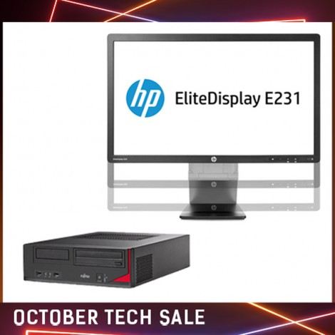 Комплект Компютър Fujitsu Esprimo E520 и монитор HP E231